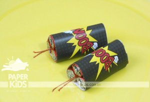 Rótulo  chocolate Baton Bomba - festa SUPER HERÓIS (8 UN)