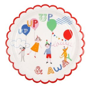 Prato de papel festa de aniversário - 1 unidade (22cm)