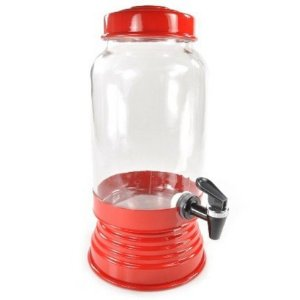 Suqueira de vidro vermelha - 3,250 ml