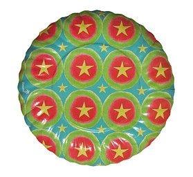 Prato de papel biodegradável - Estrelas (8 unidades)