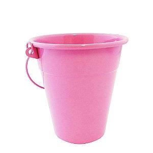 Baldinho de alumínio - cor rosa (4 unidades)