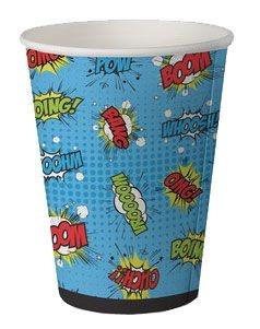 Copo de papel biodegradável - Super Herois (8 unidades)