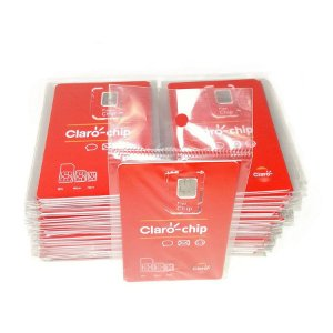 Caixa com 100 und Chip claro triplo corte 4G DDD (011)