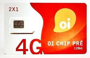 Chip Oi Triplo Corte 4G DDD 11 ao 19 Tamanho Normal Micro Sim e Nano