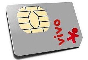 Chip VIVO 3G gsm tamanho normal grande ddd automatico sim card