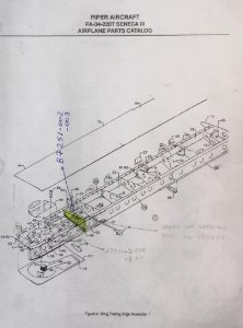 NERVURA SENECA TREM COM PERFIL ESQUERDO - 87251-002