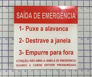 PLAQUETA SAÍDA DE EMERGÊNCIA