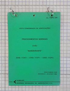 CADERNO VERIFICAÇÕES BANDEIRANTE - CL-110P2/291