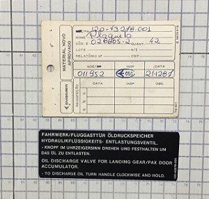PLAQUETA - 120-43278-001