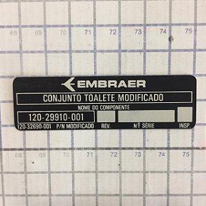 PLAQUETA - 120-29910-001 (120-32690-001)