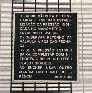 PLAQUETA - 312-07191-001