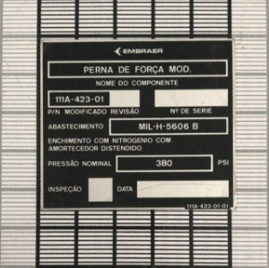 PLAQUETA - 110P2-9001-70-58