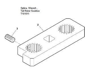 Spline Wrench  Tail Rotor Gearshaft - T101511