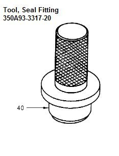 Tool Seal Fitting - 350A93-3317-20