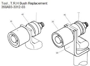 Tool TRH Bush Replacement - 350A93-3312-03