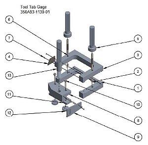 Trim Tabe Gage - 350A93-1130-01
