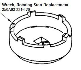 Wrench  Rotating Start Replacement - 350A93-3316-20