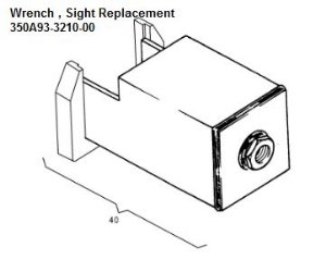 Wrench,Oil Sight replacement - 350A93-3210-00