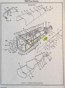 PERFIL INFERIOR CESSNA 188 INFERIOR ESQUERDO CONE CAUDA - 0712015-1AGW