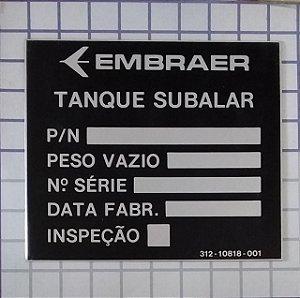 PLAQUETA - 312-10818-001