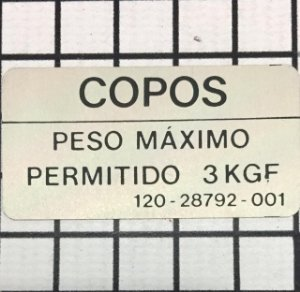 PLAQUETA - 120-28792-001