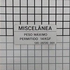 PLAQUETA - 120-26720-001