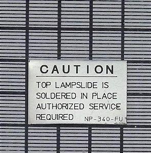 PLACA DE IDENTIFICAÇÃO - NP-340-FU