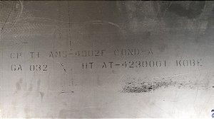 """CHAPA TITANIO AMS-4902F COND-A 0.032"""" LIGA MOLE - 122X50  CM - E-2528261"""
