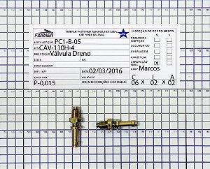 Válvula Dreno CAV-110H-4