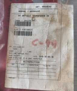 COVER ASSY - 123-11400-401
