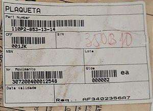 PLAQUETA - 110P2-853-13-14