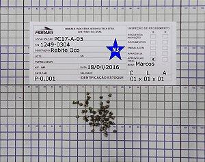 Rebite Oco Cabeça Escariada 1249-0304