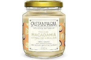 Pasta de Macadamia com Sal do Himalaia 210g - Castanharia