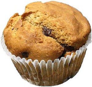 Muffin de Banana com Chocolate Belga 70% - Plantê