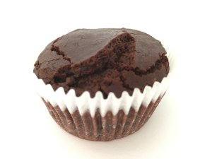 Muffin de Cacau com Chocolate Belga 70%  - Plantê