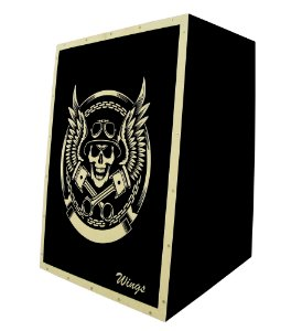 Cajon Acustico Inclinado Wings - Estampa Personalizada Wcv