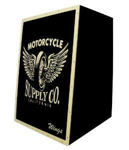 Cajon Acustico Inclinado Wings - Estampa Personalizada wms
