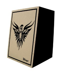 Cajon Acustico Inclinado Wings - Estampa Personalizada - Wag