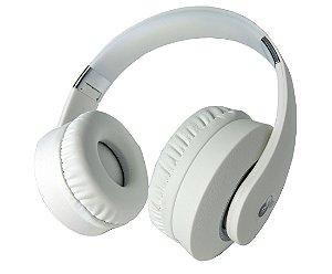Fone de ouvidos c/ Microfone Wings – Wireless Bluetooth Radio Fm - Headphone bt007 - White - Lançamento!