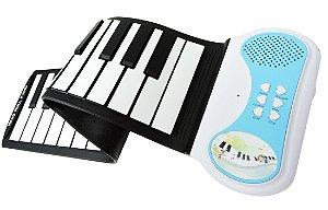 Teclado Musical Infantil Flexível 37 Teclas - Konix - Hand Roll Piano - PN37