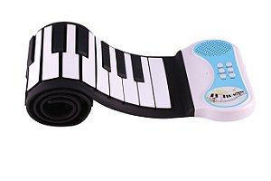 Teclado Musical Infantil Flexível 49 Teclas - Konix - Hand Roll Piano - PN49