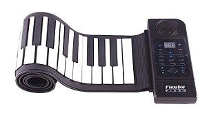 Teclado Musical Flexível 61 Teclas Usb / Midi - Konix - Hand Roll Piano - PU61- Lançamento !