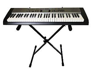 Teclado Musical Casio Ctk 1300 - Arranjador 61 Teclas + Suporte + Fonte Bivolt  + Suporte Partitura