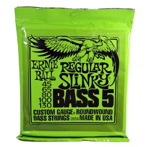 Encordoamento Contrabaixo 5 Cordas - Ernie Ball Regular Slinky  - 2836 (original USA)