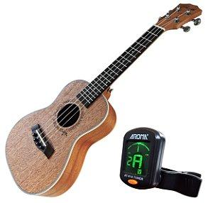 Ukulele Concert Barth Guitars Acustico + Afinador Aroma mod. AT-01A Tuner