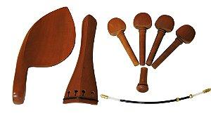 Kit Acessorios Madeira Jujuba - Barth para Violino 4/4