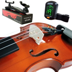 Kit Violino Barth Violin Nt 4/4 - Tampo Solido com Estojo (Cr) Arco , Breu + Espaleira Shoulder Rest
