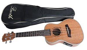 Ukulele Concert Barth Guitars Eletrico + Capa Bag  Personalizada