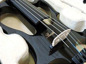 Violino Elétrico Barth Violin 4/4  - Solid Wood Bk + Estojo + Arco + Breu + Fone