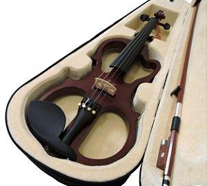 Kit Violino Elétrico Barth 4/4 - Rd + Estojo + Arco + Breu + Espaleira + Afinador + Fone